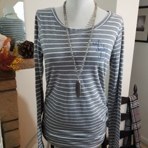 Motherhood Maternity sz sm top stripe